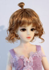 """1/6 bjd 6-7"""" doll head copper curly short wig YOSD Luts Iplehouse Lati W-JD375S"""