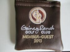 NEW AM&E TAG BAG GAINEY RANCH GC MEMBER GUEST 2013 4 X 4 BROWN