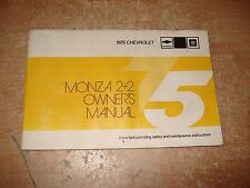 1975 CHEVY MONZA 2+2 OWNERS MANUAL ORIGINAL GLOVE BOX  BOOK