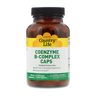 Country Life Coenzyme B-Complex Caps 120 Vegan Capsules Gluten-Free, GMP Quality