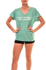 Wildfox Women's Pretty Optimistic WTJ10351T T-Shirt Trance Teal S RRP £51 BCF85