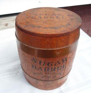 SUGAR BARREL Wood Pipe Tobacco Jar Store Sample Display to Fill Your Pipe