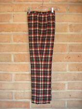 Vintage Pendleton Knockabouts Brown Plaid Wool Pants Womens 10