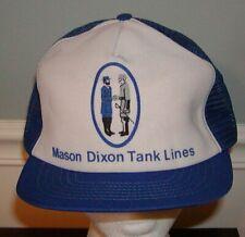 Vintage Mason Dixon Tank Lines Snapback Hat Cap Mesh Mens Blue Trucker NICE!