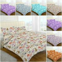 Paisley Terracotta Duvet Cover & Pillowcase Bed Set Single Double King SuperKing
