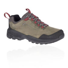 Merrell Mens Forestbound Waterproof Walking Shoes Green Sports Outdoors