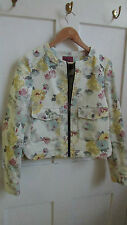 Women's Floral Cotton Blend Biker Coats & Jackets