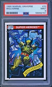 1990 Marvel Universe WOLVERINE #23 Rookie Card PSA 9 MINT ~ Original Costume
