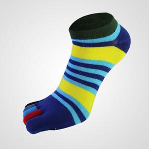Men's toe socks outdoor sports socks pure cotton breathable colorful stripes