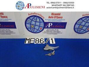 MANIGLIA CHIUSURA COFANO POST. ALLUMINIO ALFA RENAULT DAUPHINE (CHIAVE BLOCCATA)