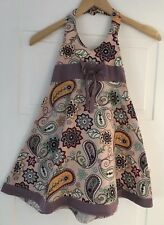 Gorgeous Purple Floral Halter Neck Dress. Looks So Cute On! Size 6. Collect Or