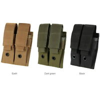 Combat Military 600D 9MM Molle Nylon Dual Double Pistol Mag Magazine Pouch Bag