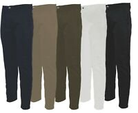 Mens Casual Regular Fit 100% Cotton KAM Chino Trousers Golf 32-48 Leg 29 31 33