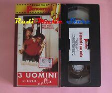 film VHS cartonata 3 UOMINI E UNA CULLA R. Giraud PANORAMA 1985  (F12) no dvd