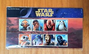 NEW STAR WARS FULL SET OF 10 ROYAL MAIL 1ST CLASS STAMP COLLECTION BRAND NEW