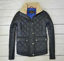 BARBOUR CUSHAT QUILT Womens Jacket Outdoor Casual Coat Black Size 12 UK Medium