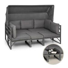 Set de muebles de jardín 4 piezas convertible aluminio antracita
