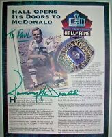 Tommy McDonald Philadelphia Eagles Hall of Fame Autographed 8 x 11 Picture