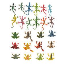 24 Kunststoff Wildlife Tiere Eidechse / Frosch Figuren Bildung Spielzeug