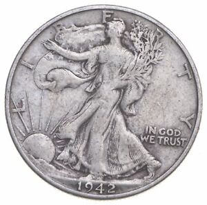 1942-D Walking Liberty 90% Silver US Half Dollar *275