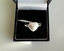 925 Sterling Silver Dress Heart Ring. Size S. New.