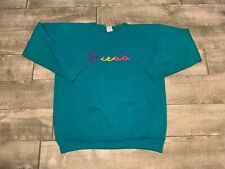 Vtg GUESS Cursive Script USA Georges Marciano LG One Size Sweatshirt Sweat Shirt