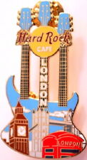 Hard Rock Cafe LONDON 2005 Triple Neck CITYSCAPE GUITAR PIN - HRC Catalog #27669