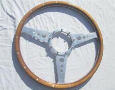 Vintage Moto Lita Wood Steering Wheel 15 Inch 50s-60s Cobra Triumph Porsche BMW