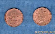 II République, 1848-1852 – Un Centime Dupré 1849 A Paris SPL FDC