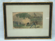 1864 Civil War Ulysses S Grant - Signed Color Drawing - Battle of the Crater