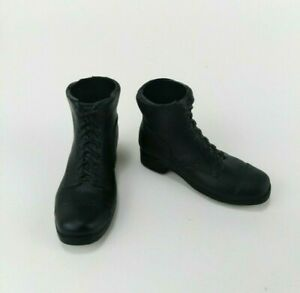 1/6 Scale Formative Black Boots For Most 12 Inch Action Figures DID BBI HTF