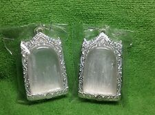 (2) 3.75x2.5x1cm New Thai Sterling Silver Case Cover Phra Somdej Amulet Hot Sale