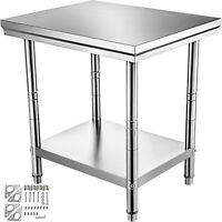 "24""x30"" Stainless Steel Kitchen Work Prep Table Bench Commercial Restaurant"