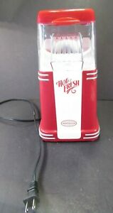 Nostalgia Electrics Hot Air Popcorn Maker Hot and Fresh Red White RHP310