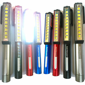 LED Ultra Bright Pocket Pen Torch Inspection Work Light Lamp. 85 Lumens Magnetic