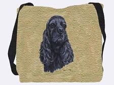 Woven Tote Bag - Black Cocker Spaniel 3320