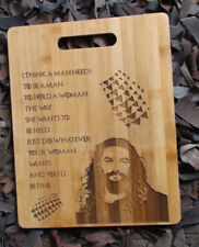 Aqua Man Jason Momoa personalied engraved for chopping board.Custom wooden GIFT
