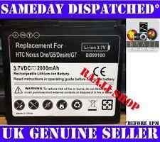 Batterie neuve pour htc desire nexus one g5 Bravìo G7 2000mAh uk vendeur