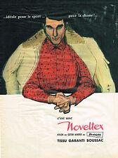 PUBLICITE  1961   NOVELTEX  par RENE GRUAU chemises