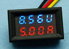DC 4-30V 10A Voltmeter Ammeter Blue+Red LED Panel Amp Digital Volt Gauge