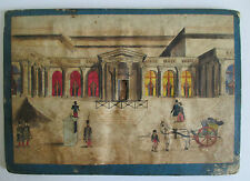 Rare Antique TUNNEL or PEEPHOLE BOOK, CHAMBRE des DEPUTES circa 1850