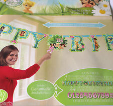 TINKERBELL PARTY SUPPLIES JUMBO 3 METER LETTER BANNER KIT