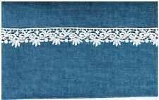 "9yd Venice Lace Trim 1"" Vintage Rayon White Venise Swirls #1840"