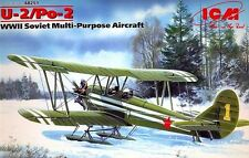 POLIKARPOV U-2/Po-2 ON SKI (SOVIET AF WINTER MARKINGS) #251  1/48 ICM