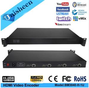 1U 4Channel Rackversion H.264 HDMI Video Encoder for live Broadcast Support RTMP