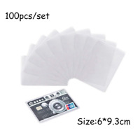 100PCS Transparent Plastic Vertical ID Credit Card Holder Protector Cover Sleeve