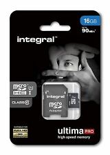 16GB Micro SDHC Memory Card - Fast Class 10 UHS-I U1 90MB/s with SD Adapter.