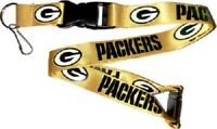 """NFL Green Bay Packers Gold Lanyard Keychain Officially Licensed Aminco 22"""""""