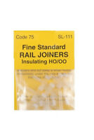 12x Insulated rail joiners code 75/83 - Peco SL-111 - L1