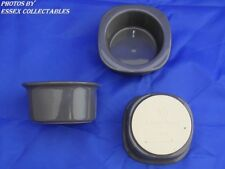 EMILE HENRY ramekins / custard / dip pots SET OF 3 Squared Tops Grey RARE